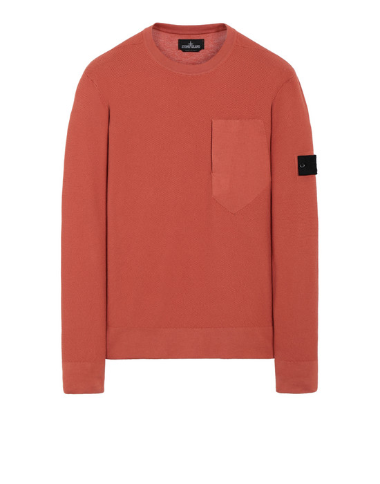 STONE ISLAND SHADOW PROJECT 507A2 CREWNECK WITH CATCH POCKET Sweater Man Rust