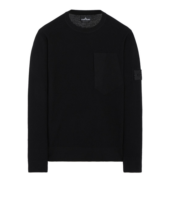 STONE ISLAND SHADOW PROJECT 507A2 CREWNECK WITH CATCH POCKET Sweater Man Black