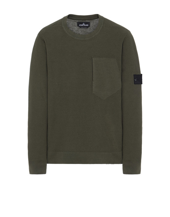 STONE ISLAND SHADOW PROJECT Tricot 507A2 CREWNECK WITH CATCH POCKET