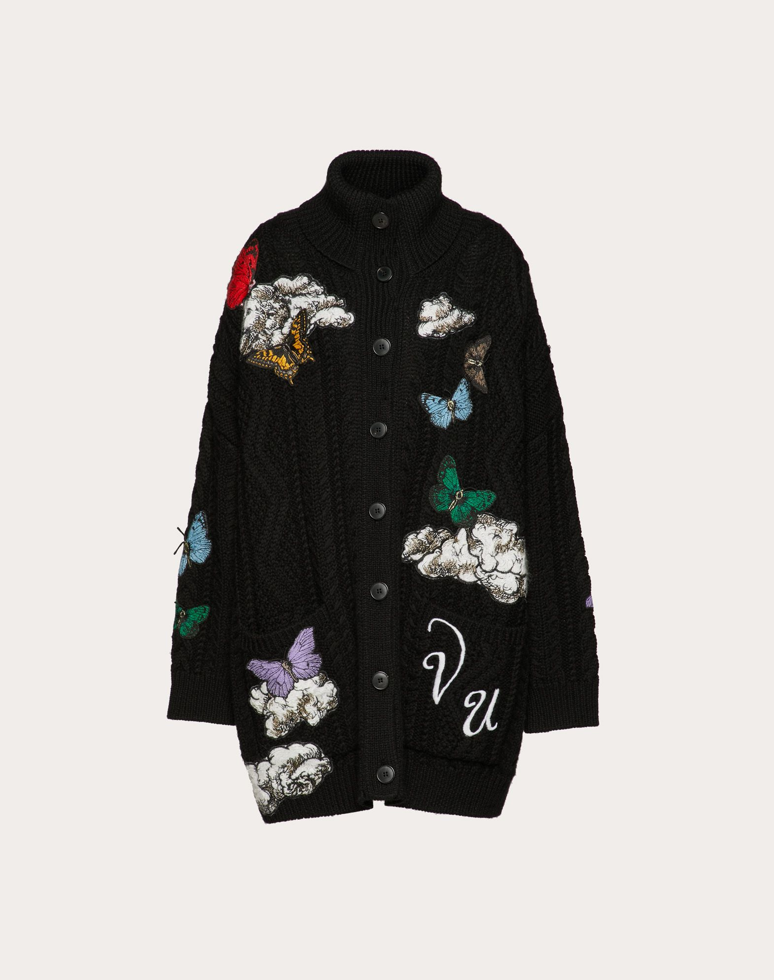Undercover Embroidered Wool Cardigan