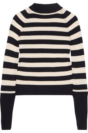 KHAITE Ursula striped merino wool sweater