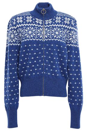 TORY BURCH Intarsia wool cardigan