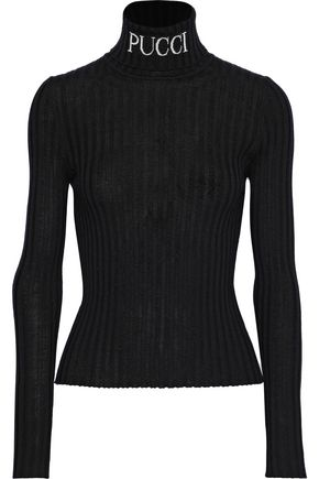 EMILIO PUCCI Ribbed wool turtleneck top