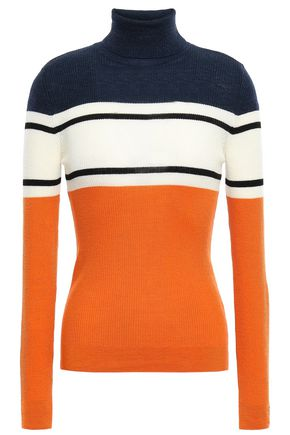 STELLA JEAN Ribbed wool turtleneck sweater