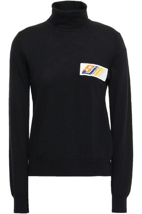 STELLA JEAN Appliquéd wool turtleneck sweater