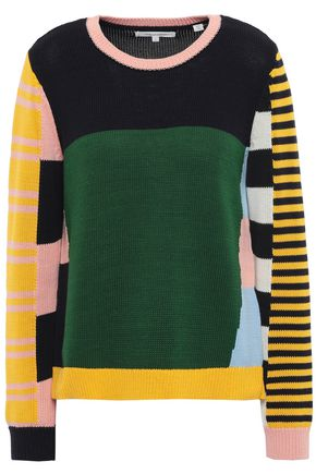 CHINTI AND PARKER Color-block cotton sweater
