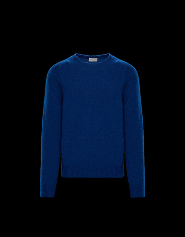 CREWNECK Bright blue Knitwear & Sweatshirts