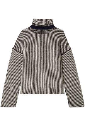 THEORY Oversized ribbed cashmere turtleneck sweater