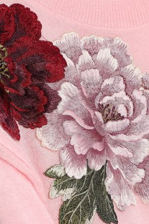 ドルチェ & ガッバーナ フローラルアップリケ付き カシミア セーター