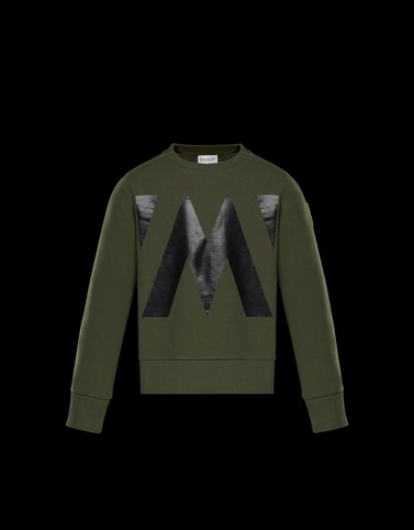 SWEATSHIRT Military green Junior 8-10 Years - Boy Man