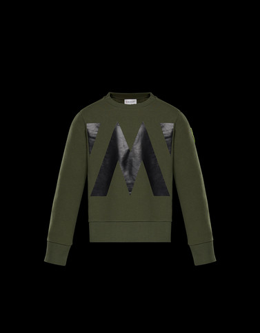 SWEATSHIRT Military green Kids 4-6 Years - Boy