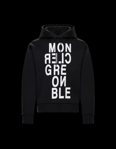 SWEATSHIRT Black Category HOODED SWEATSHIRTS Man