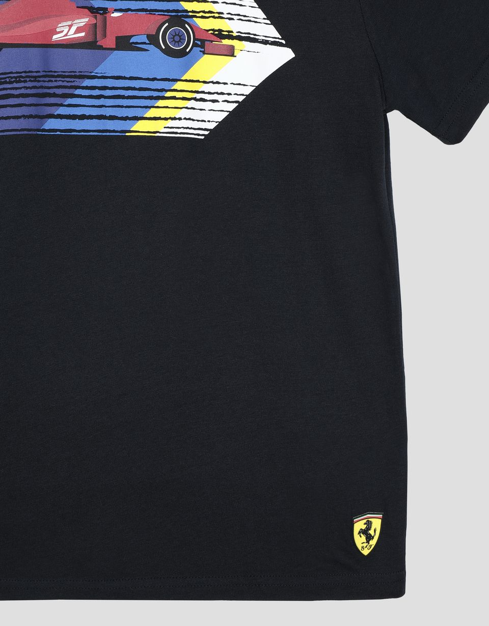 Scuderia Ferrari Online Store - Children's cotton jersey T-shirt with print - Short Sleeve T-Shirts