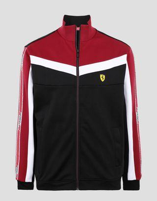 Scuderia Ferrari Online Store - Sweat-shirt homme avec Icon Tape - Zip Jumper