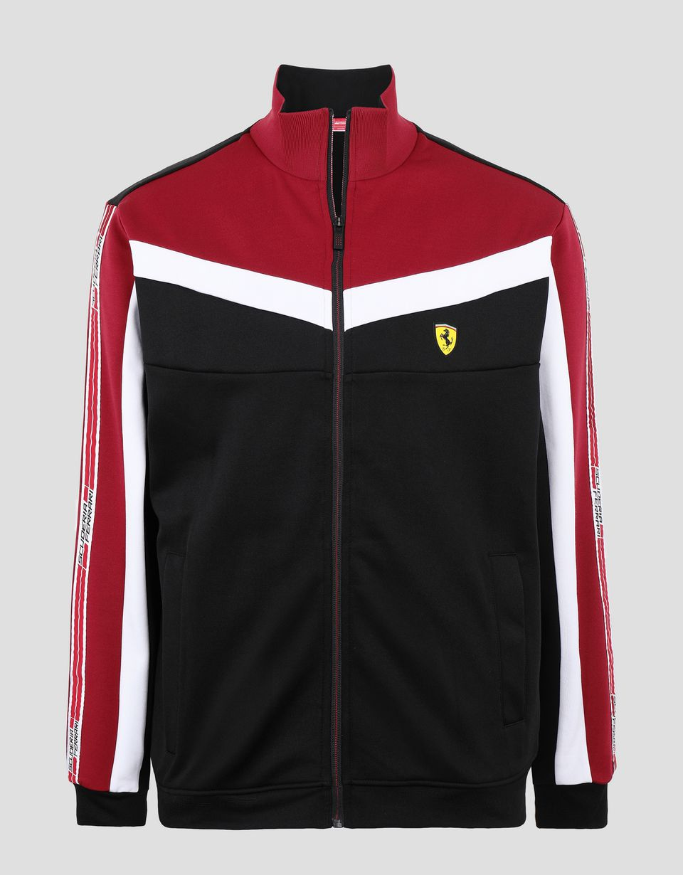 Scuderia Ferrari Online Store - Men's sweatshirt with Icon Tape - Zip Sweaters