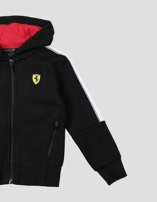 Scuderia Ferrari Online Store - Детская толстовка со светоотражающей окантовкой - Свитеры на молнии с капюшоном