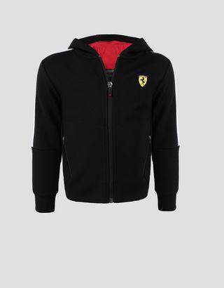 Scuderia Ferrari Online Store - Sweat-shirt pour garçon avec liseré réfléchissant - Pulls zippés à capuche