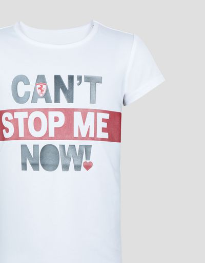 Scuderia Ferrari Online Store - Girls' T-shirt with CAN'T STOP ME NOW! print -