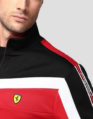 Scuderia Ferrari Online Store - Men's sweatshirt with Icon Tape - Zip Jumpers