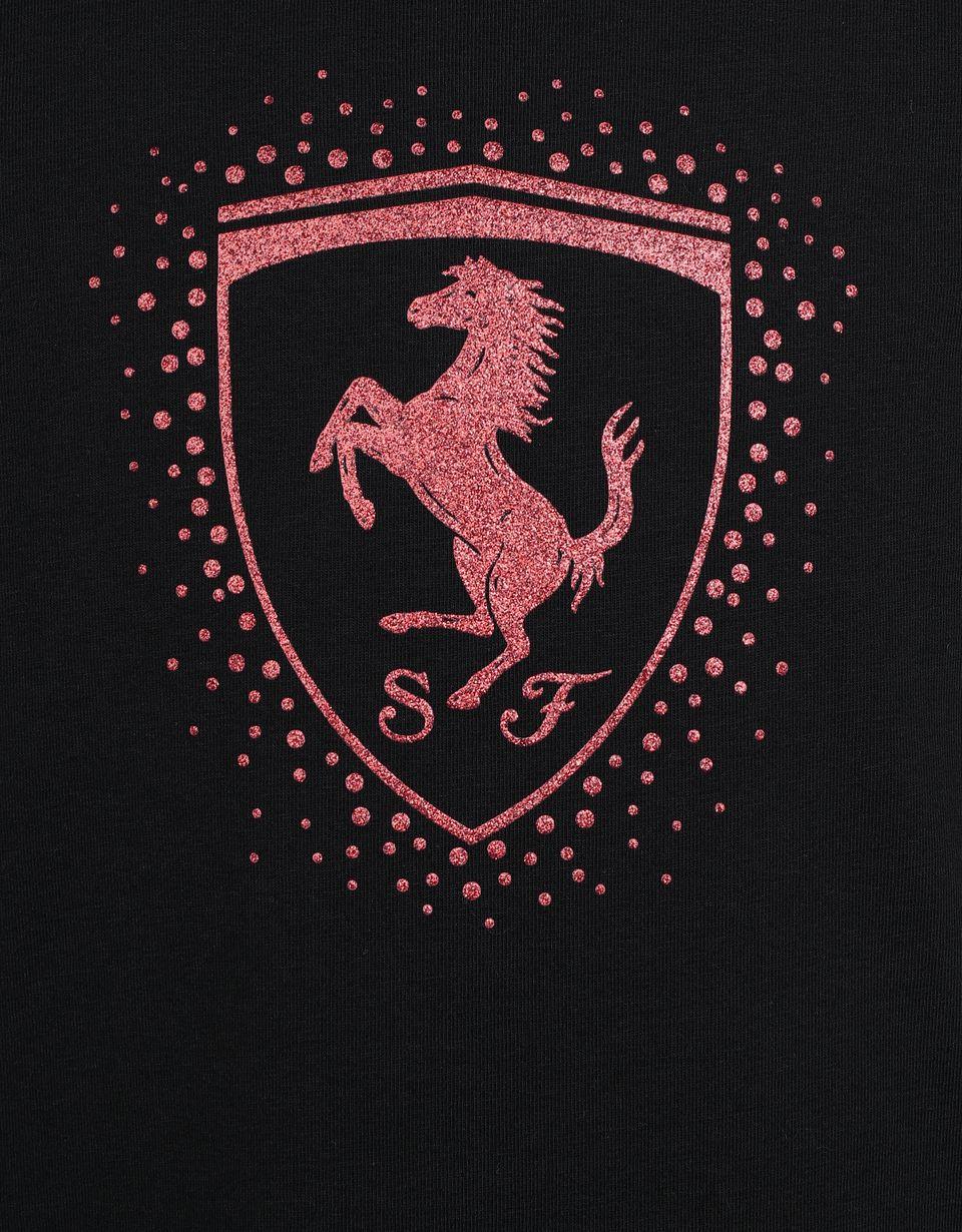 Scuderia Ferrari Online Store - Mädchen-T-Shirt mit Ferrari Wappen - Kurzärmelige T-Shirts