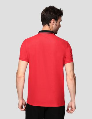 Scuderia Ferrari Online Store - Men's technical piquet polo shirt - Short Sleeve Polos