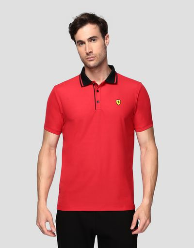 Men's technical piquet polo shirt