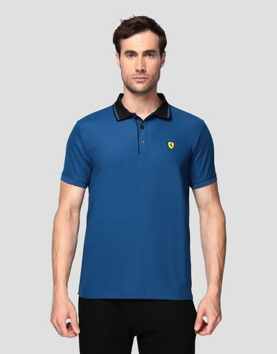 Men's polo shirt in technical piqué