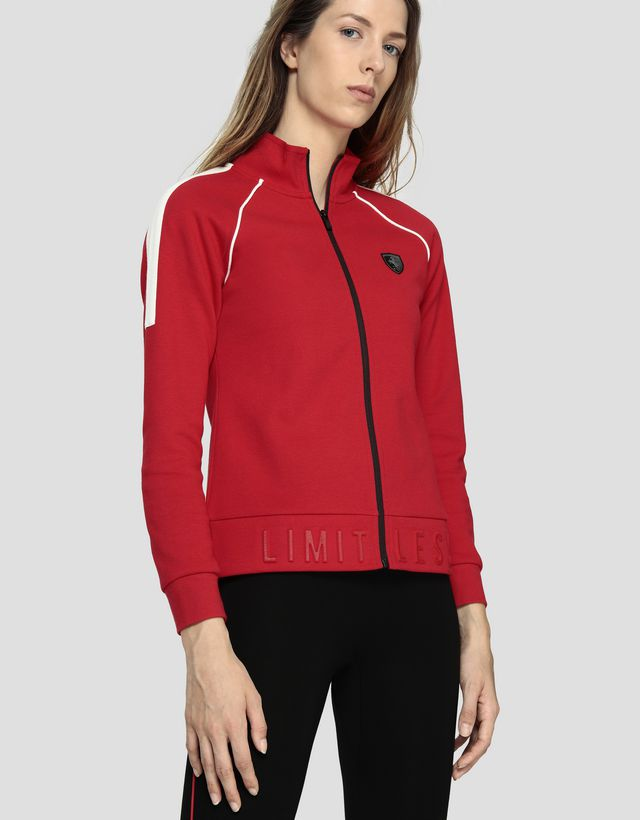 Scuderia Ferrari Online Store - Women's zippered sweatshirt with LIMITLESS print - Zip Sweaters