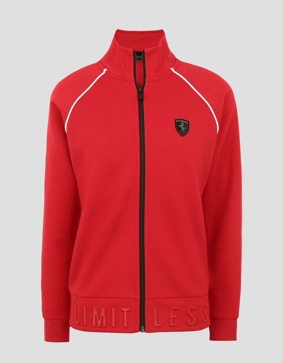 Scuderia Ferrari Online Store - Women's sweatshirt with zip and LIMITLESS print - Zip Jumpers
