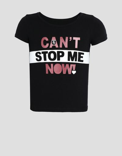 Girl's T-shirt with CAN'T STOP ME NOW! print