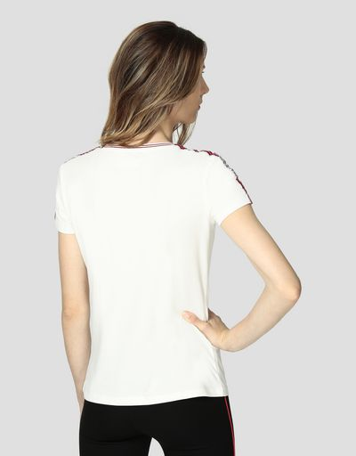 Women's cotton jersey T-shirt with Icon Tape