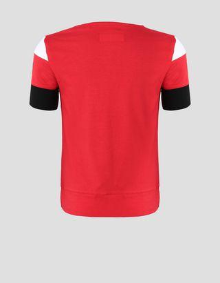 Scuderia Ferrari Online Store - Mädchen-T-Shirt aus elastischem Jersey mit Schachbrettmotiv - Kurzärmelige T-Shirts