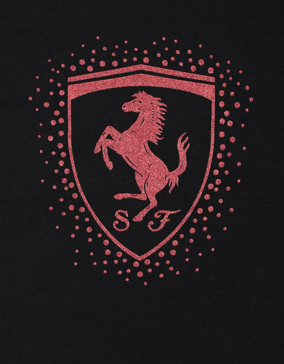 Scuderia Ferrari Online Store - Girls' T-shirt with Ferrari Shield - Short Sleeve T-Shirts