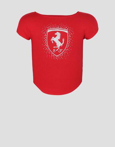 ガールズ Tシャツ Scudetto Ferrari付き