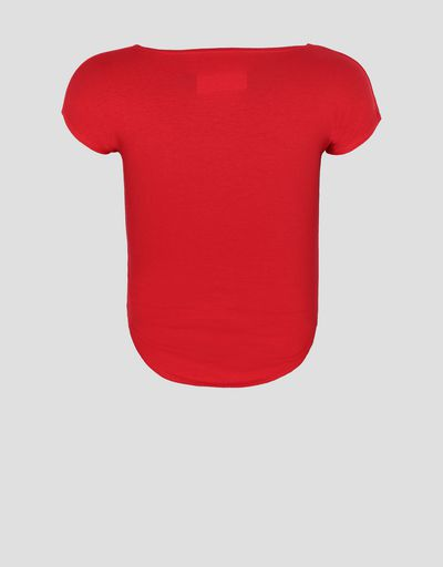 Girls' T-shirt with Ferrari Shield