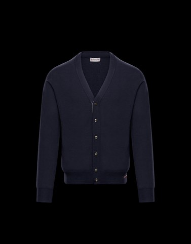 CARDIGAN Dark blue Knitwear & Sweatshirts Man