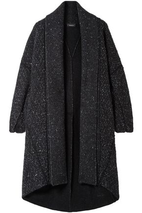 AKRIS Asymmetric cashmere and wool-blend cardigan