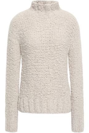GENTRYPORTOFINO Bouclé-knit cashmere turtleneck sweater