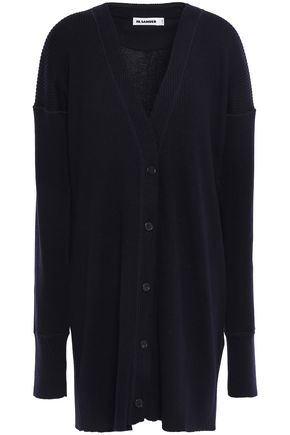 JIL SANDER Ribbed wool cardigan
