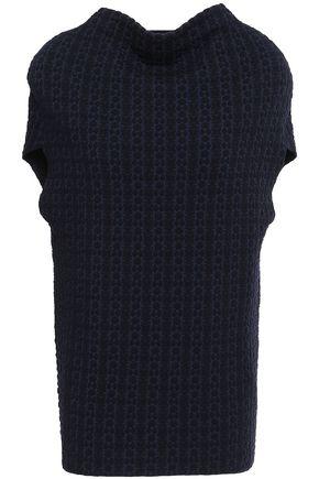 JIL SANDER Wool-blend jacquard top