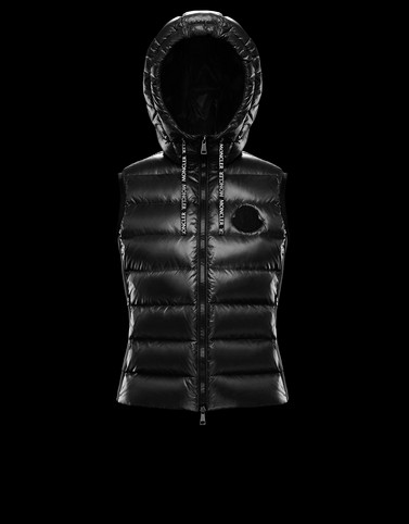 PADDED GILET Black T-shirts & Tops