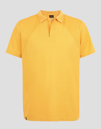 Scuderia Ferrari Online Store - Men's zippered polo shirt with print - Short Sleeve Polos