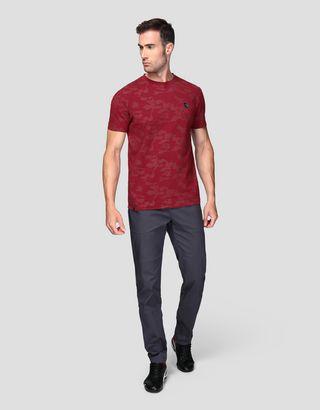 Scuderia Ferrari Online Store - Herren-Jersey-T-Shirt mit Camouflage-Print - Kurzärmelige T-Shirts