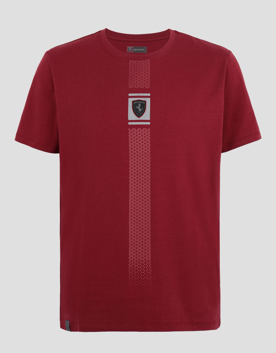 Scuderia Ferrari Online Store - Men's jersey T-shirt with reflective print - Short Sleeve T-Shirts
