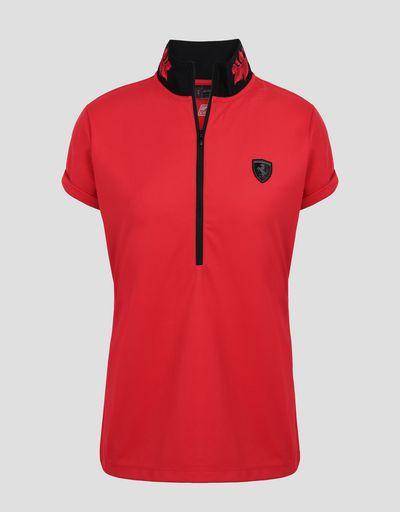 Scuderia Ferrari Online Store - Polo pour femme avec broderie de laurier - Polos à manches courtes