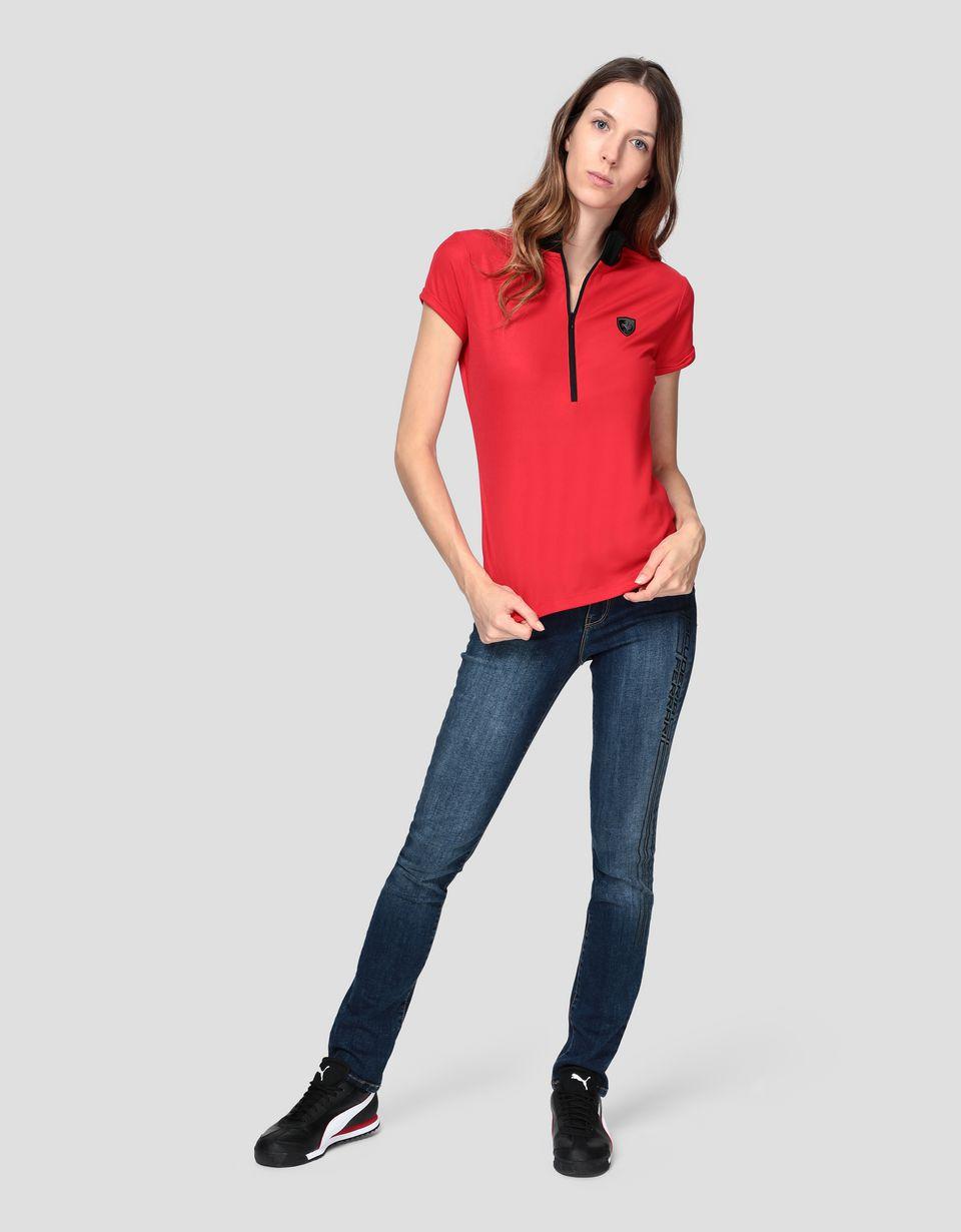 Scuderia Ferrari Online Store - レディース ポロシャツ ローレルエンブロイダリー - ポロシャツ