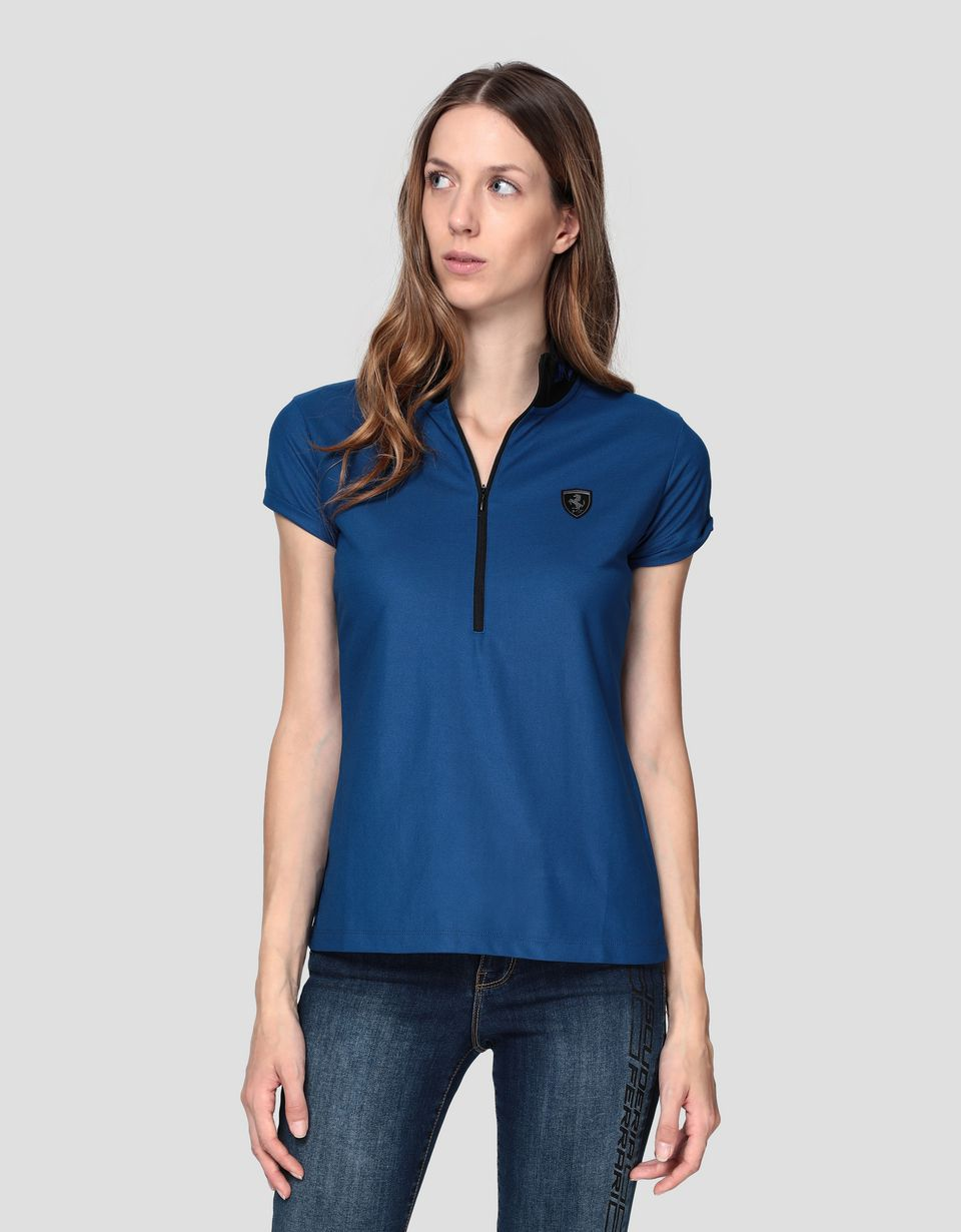 Scuderia Ferrari Online Store - Women's polo shirt with laurel embroidery -