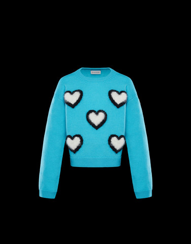 CREWNECK Turquoise Junior 8-10 Years - Girl Woman