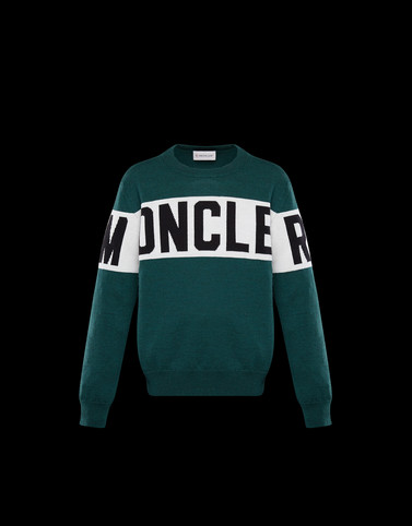 CREWNECK Emerald green Junior 8-10 Years - Boy Man