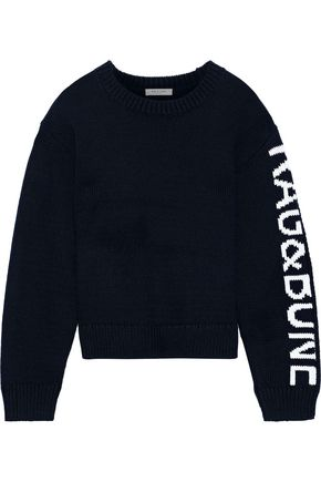 RAG & BONE Rayland intarsia Pima cotton sweater